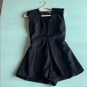 Black romper from Nasty Gal